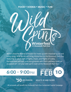 Wild Spirits Winterfest at the Roosevelt Park Zoo