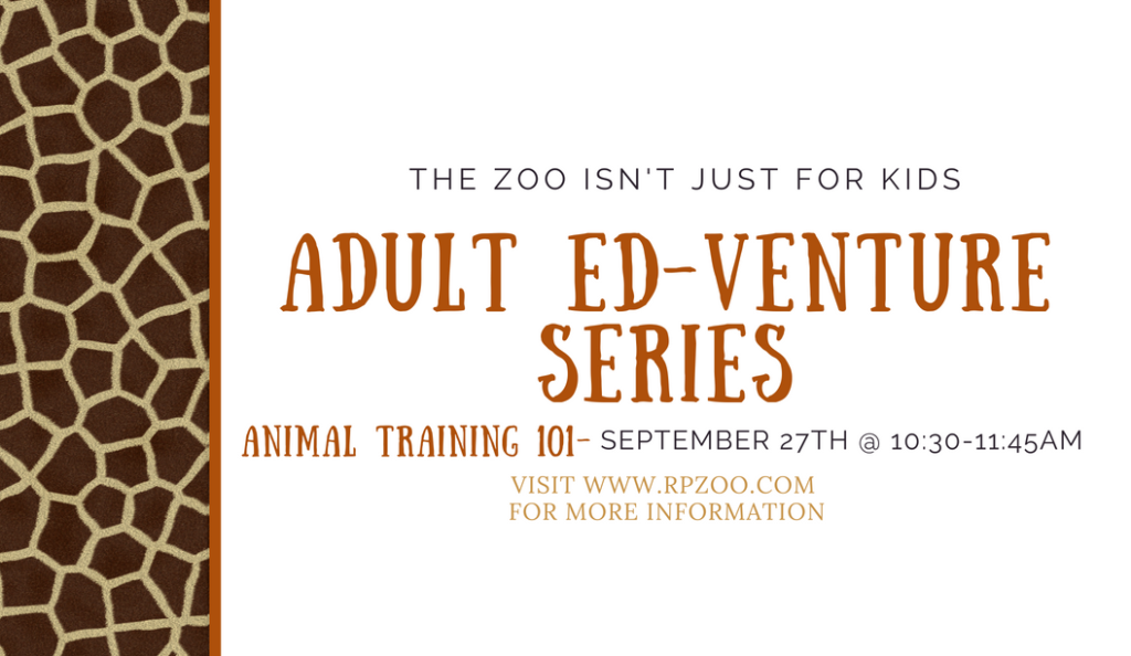 Adult Ed-Venture Series: Animal Training 101